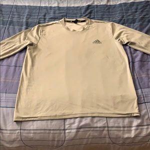 Men's Adidas Long Sleeve Climalite Tee